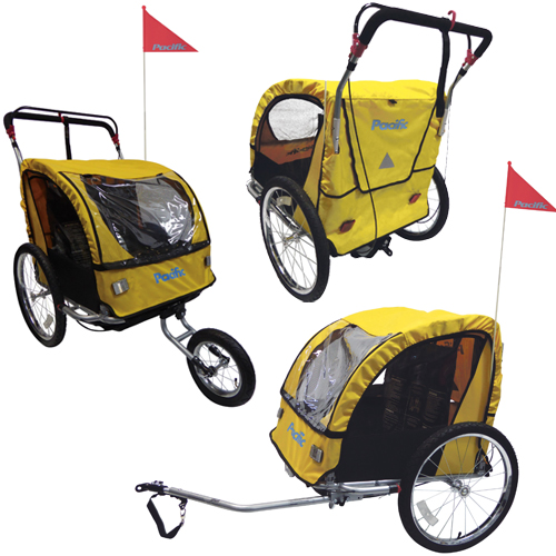 PACIFIC BIKE TRAILER STROLLER COMBO. STEEL