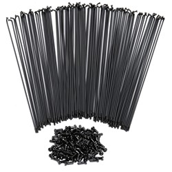 SPOKES S/LESS 14g 256mm BLACK (bags have 100)