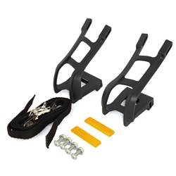TOE CLIPS MTB W/STRAPS(FISHER)