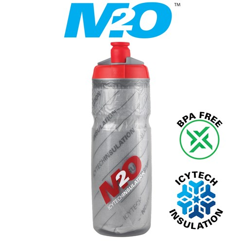 Pilot Water Bottle - 620ml - Smoke/Red - Insulated