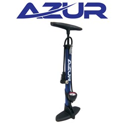 Alloy Clever Valve Pump With Gauge - Blue