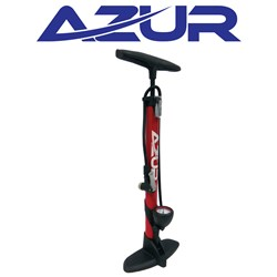 Alloy Clever Valve Pump With Gauge - Red