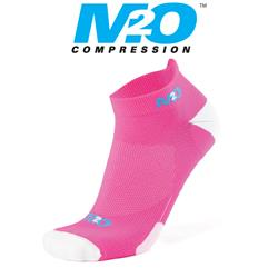 Ankle Sports Socks - Pink/White - Large