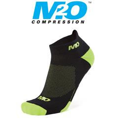 Ankle Sports Socks - Black/Fluro Yellow - Large