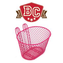 Small Wire Front Basket - Pink
