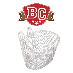 Small Wire Front Basket - White