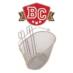 Small Wire Front Basket With Handle - Silver