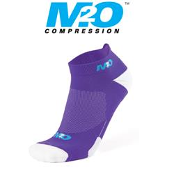 Ankle Sports Socks - Purple/White - Large