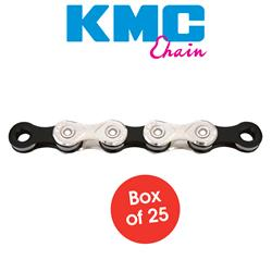 "Chain - X10.93 10 Speed - 1/2"" x 11/128"" Silver-Black Workshop Box"